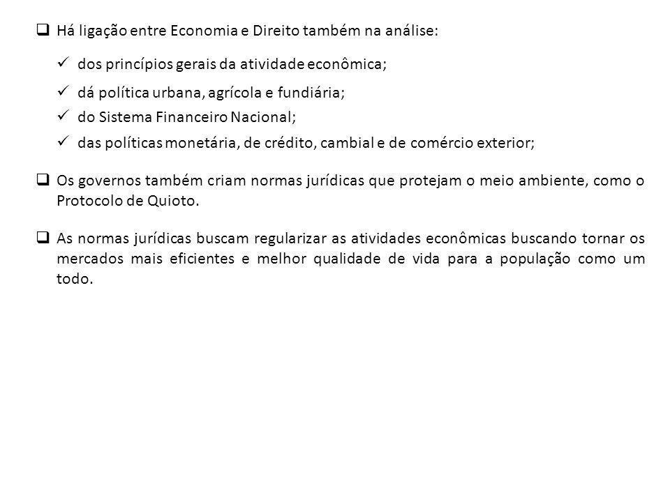 Há ligação entre Economia e Direito também na análise: