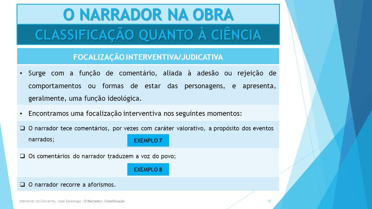 CLASSIFICAÇÃO QUANTO À CIÊNCIA FOCALIZAÇÃO INTERVENTIVA/JUDICATIVA