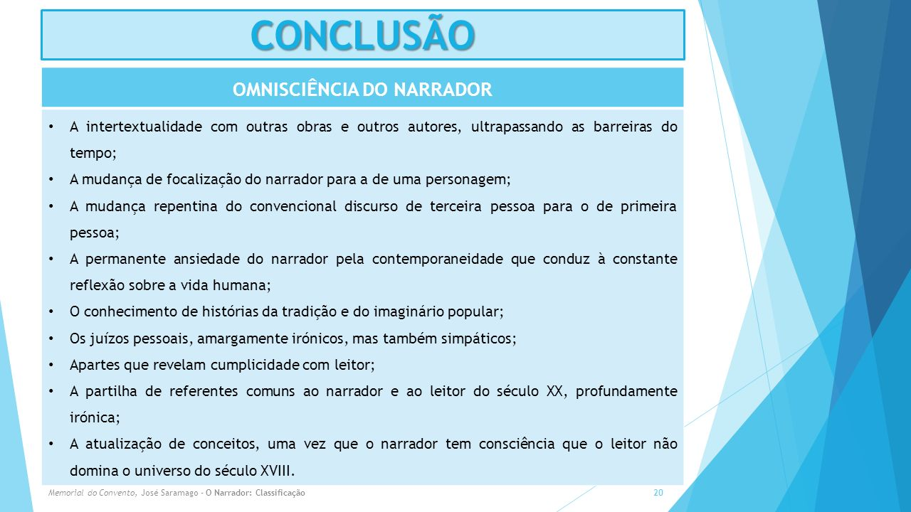 OMNISCIÊNCIA DO NARRADOR