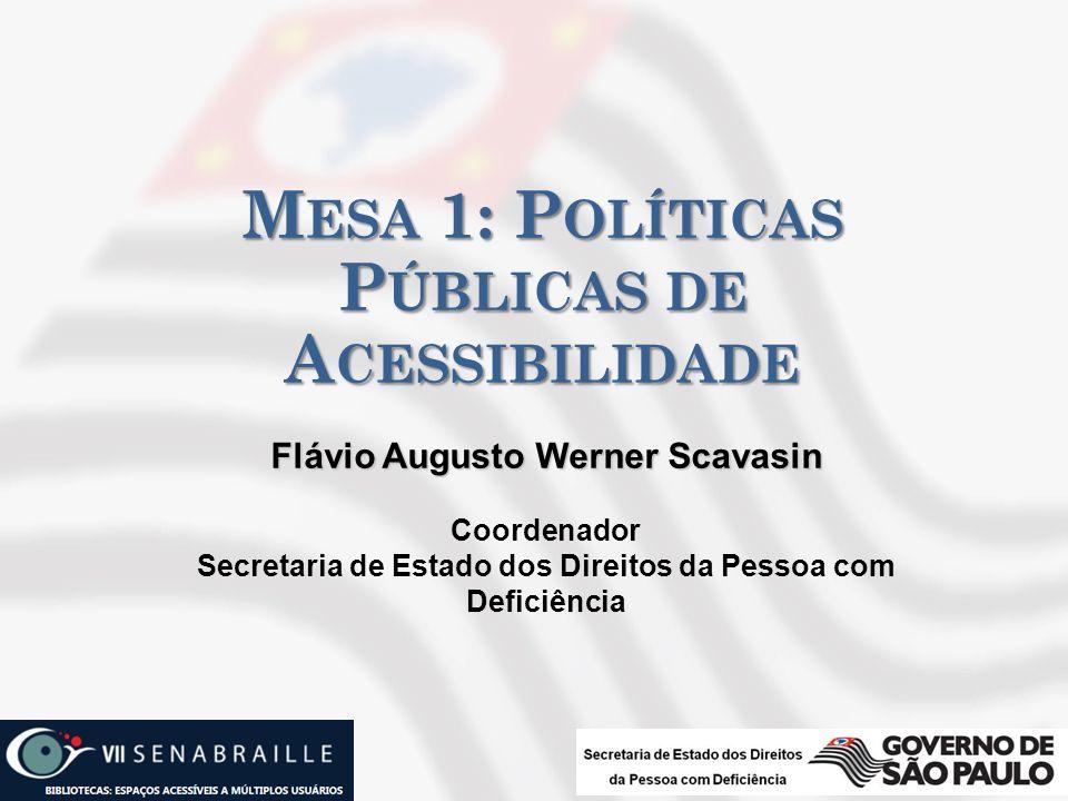 Mesa 1: Políticas Públicas de Acessibilidade