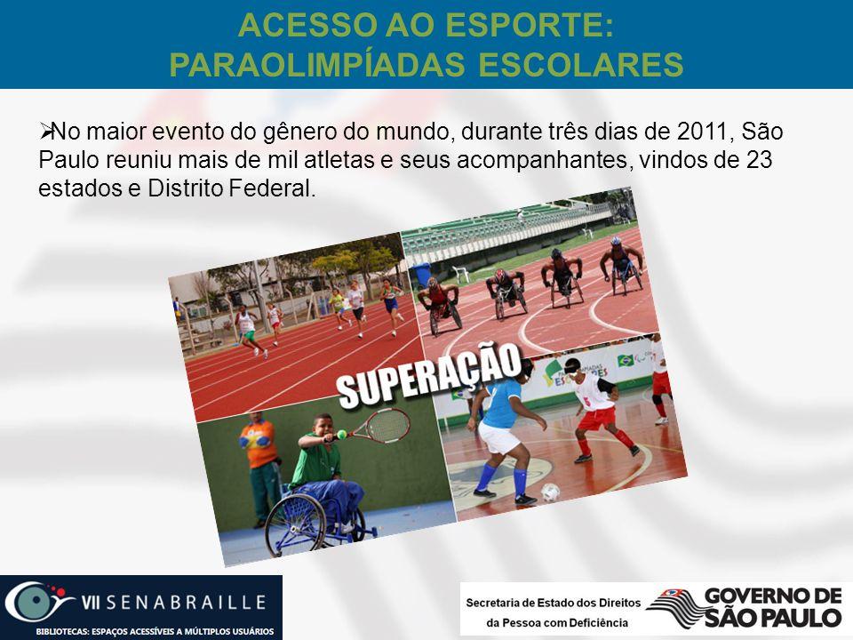 Acesso ao Esporte: Paraolimpíadas Escolares