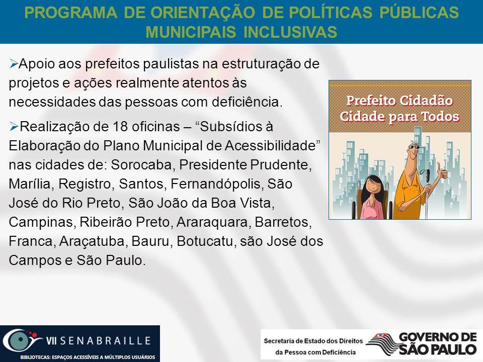 PROGRAMA DE ORIENTAÇÃO DE POLÍTICAS PÚBLICAS MUNICIPAIS INCLUSIVAS