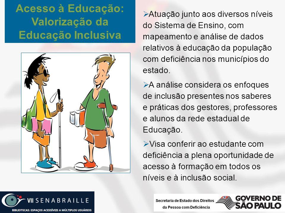 Acesso à Educação: Valorização da Educação Inclusiva