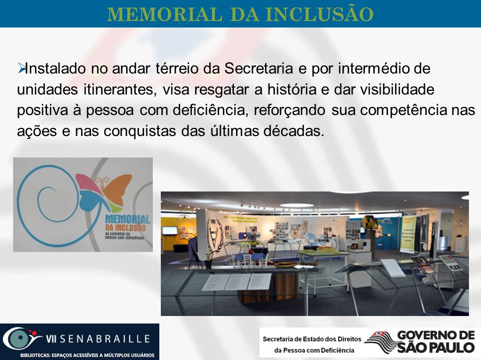 MEMORIAL DA INCLUSÃO
