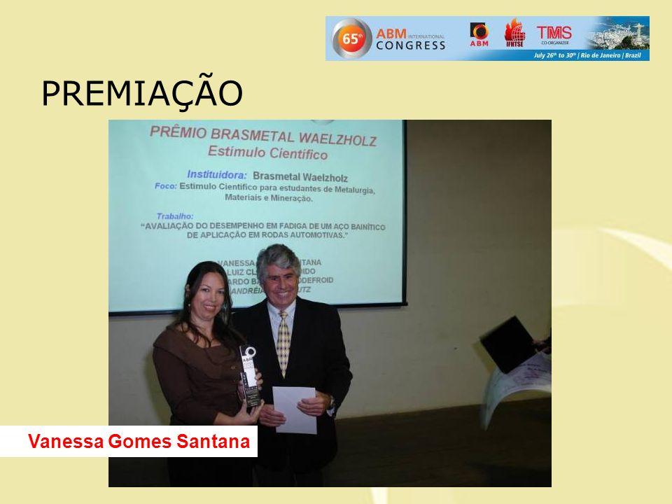 PREMIAÇÃO Vanessa Gomes Santana