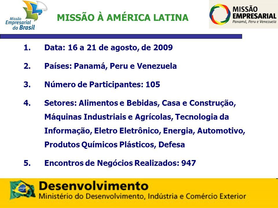 MISSÃO À AMÉRICA LATINA