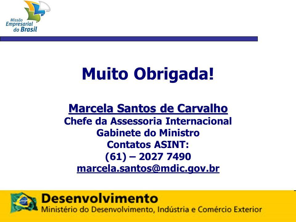 Marcela Santos de Carvalho Chefe da Assessoria Internacional