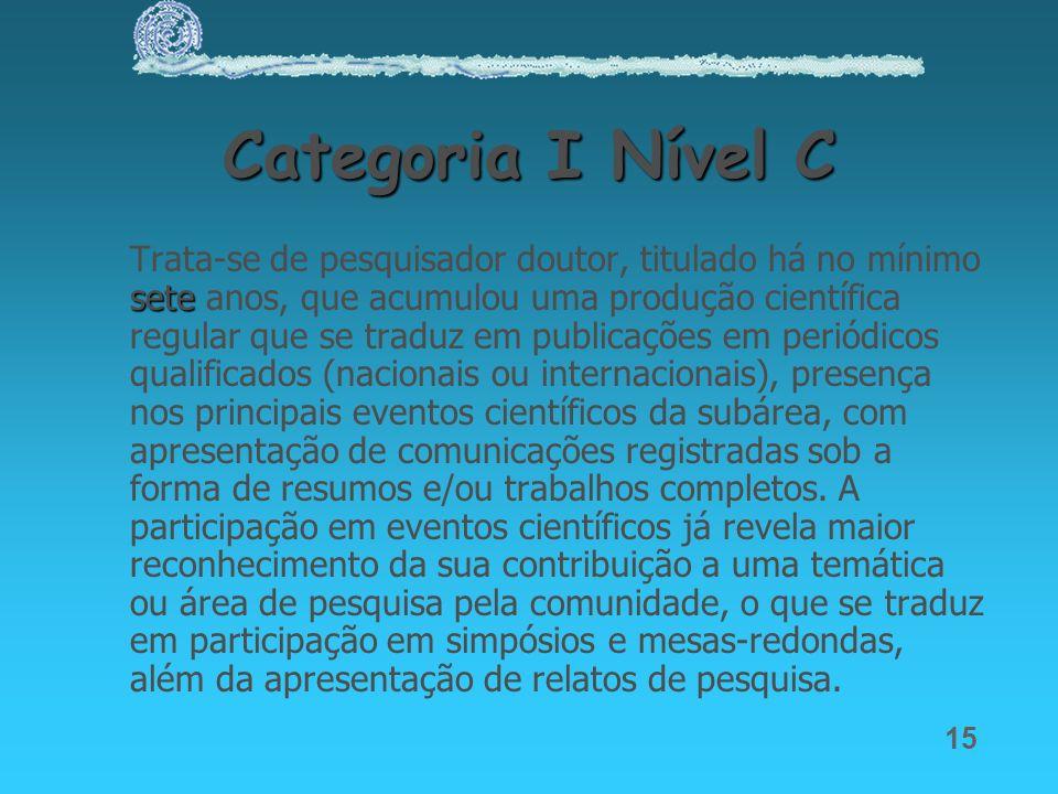 Categoria I Nível C