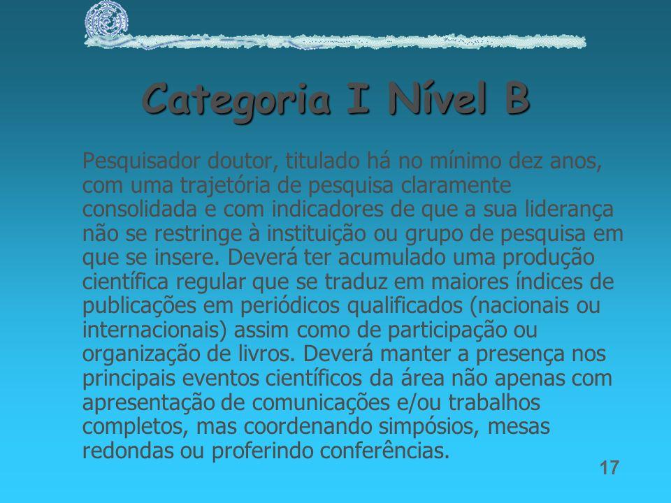Categoria I Nível B