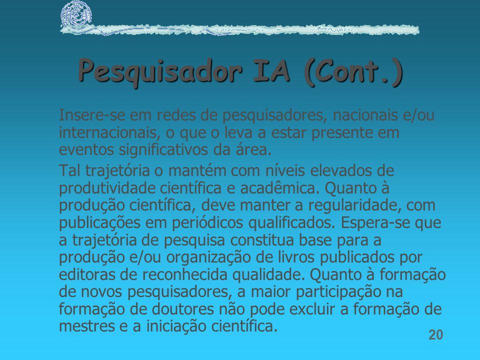 Pesquisador IA (Cont.)