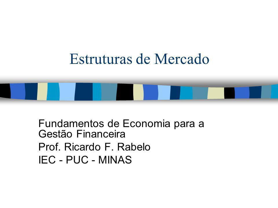 Estruturas de Mercado Fundamentos de Economia para a Gestão Financeira