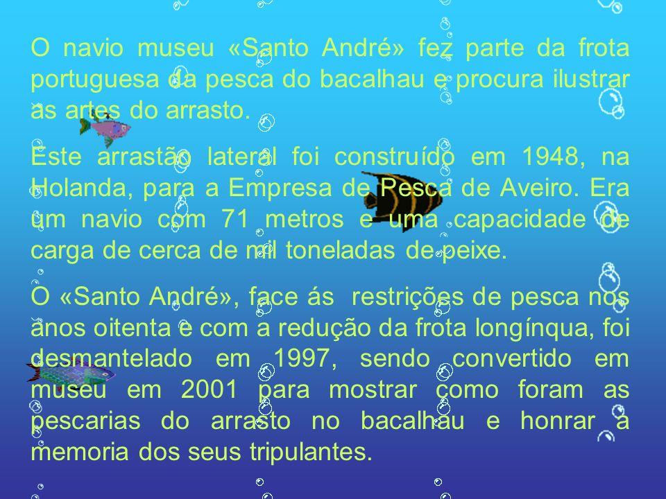 O navio museu «Santo André» fez parte da frota portuguesa da pesca do bacalhau e procura ilustrar as artes do arrasto.