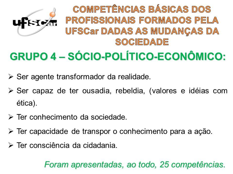 GRUPO 4 – SÓCIO-POLÍTICO-ECONÔMICO: