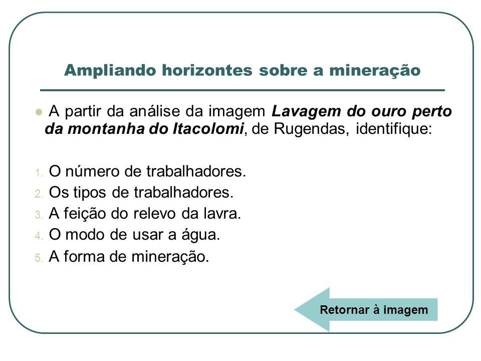 Ampliando horizontes sobre a mineração