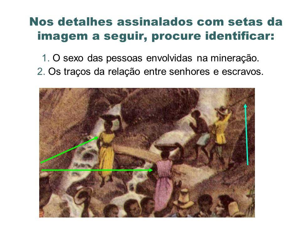 Nos detalhes assinalados com setas da imagem a seguir, procure identificar: