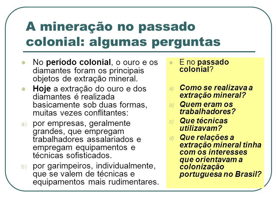 A mineração no passado colonial: algumas perguntas