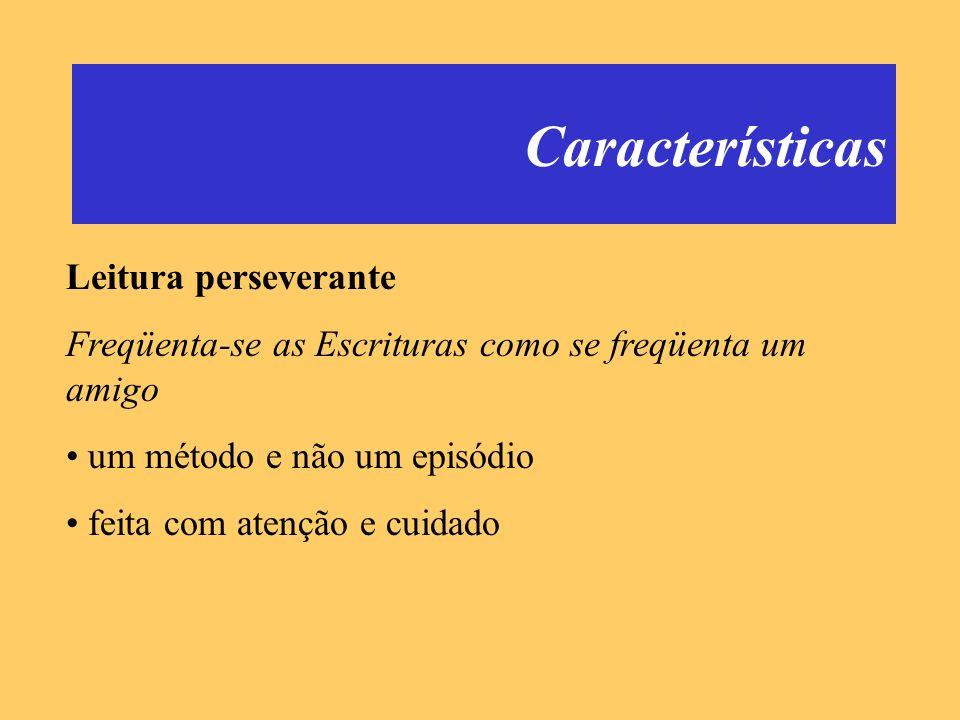 Características Leitura perseverante
