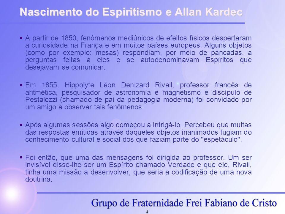 Nascimento do Espiritismo e Allan Kardec