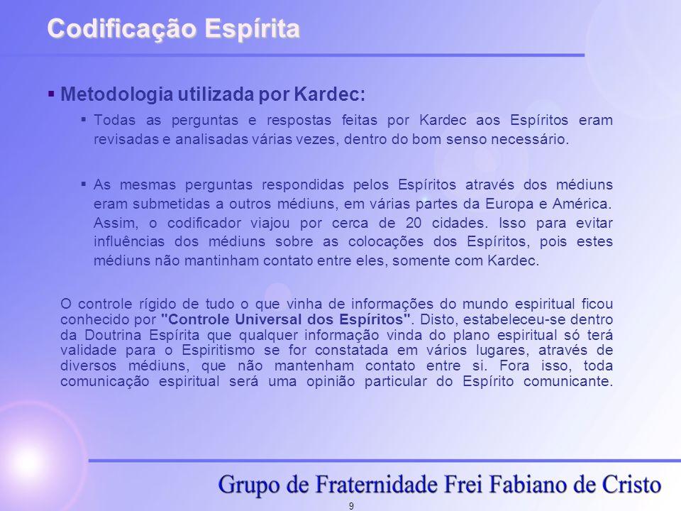 Codificação Espírita Metodologia utilizada por Kardec: