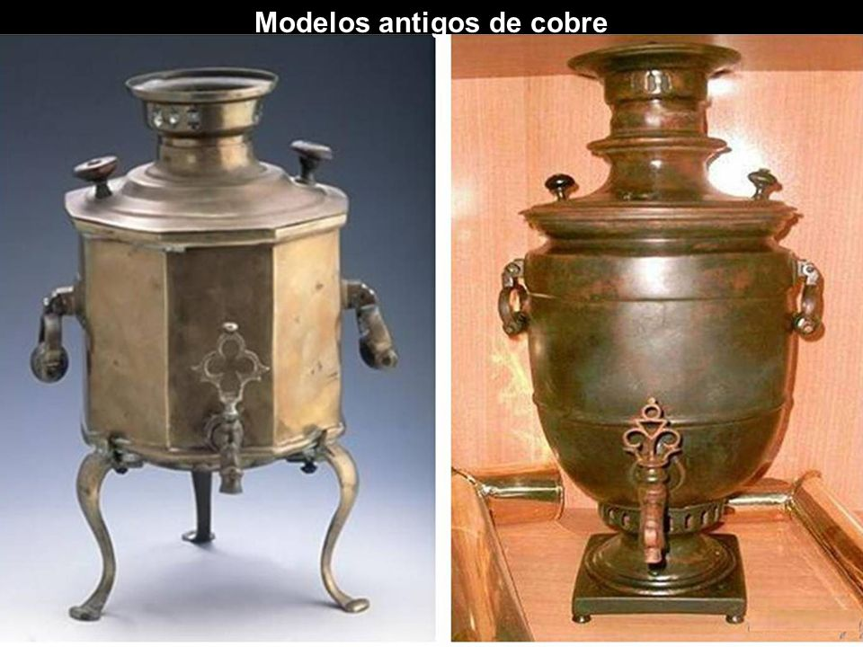 Modelos antigos de cobre