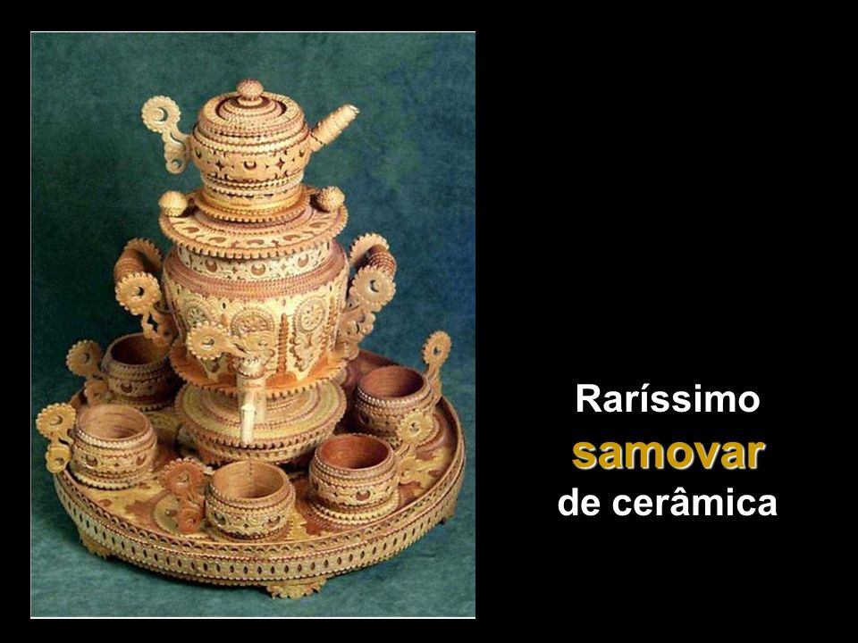 Raríssimo samovar de cerâmica
