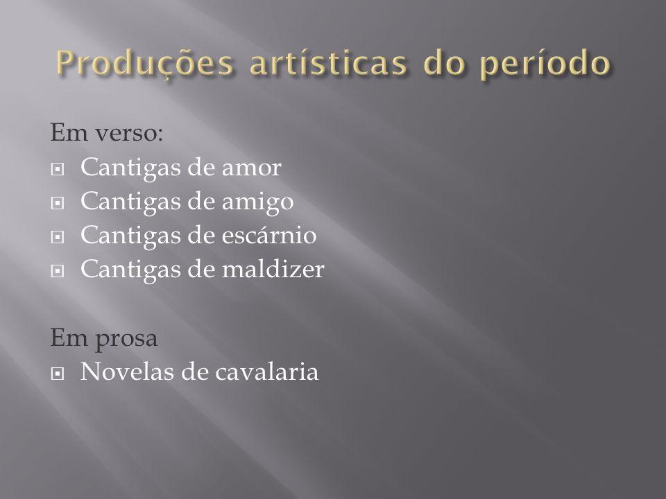 Produções artísticas do período