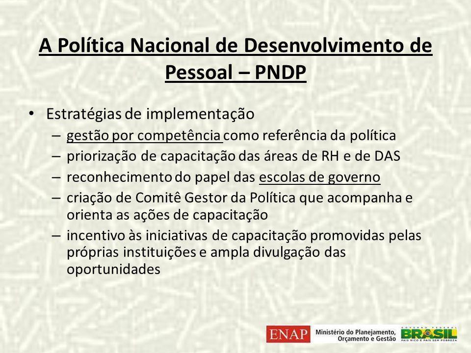 A Política Nacional de Desenvolvimento de Pessoal – PNDP