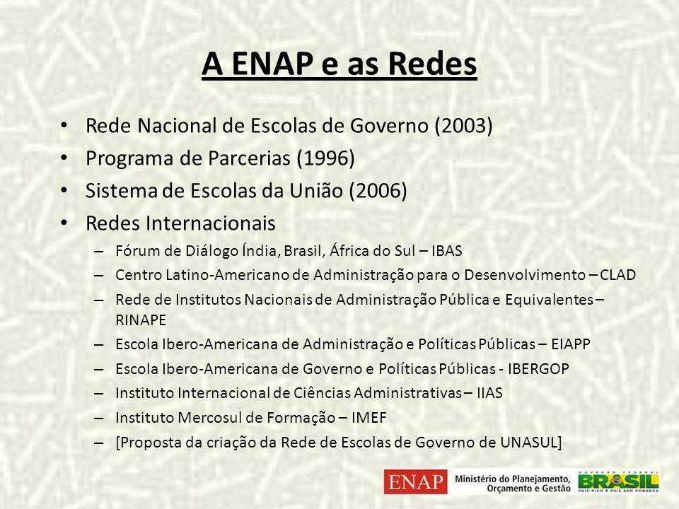 A ENAP e as Redes Rede Nacional de Escolas de Governo (2003)