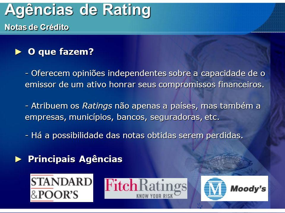 Agências de Rating Notas de Crédito