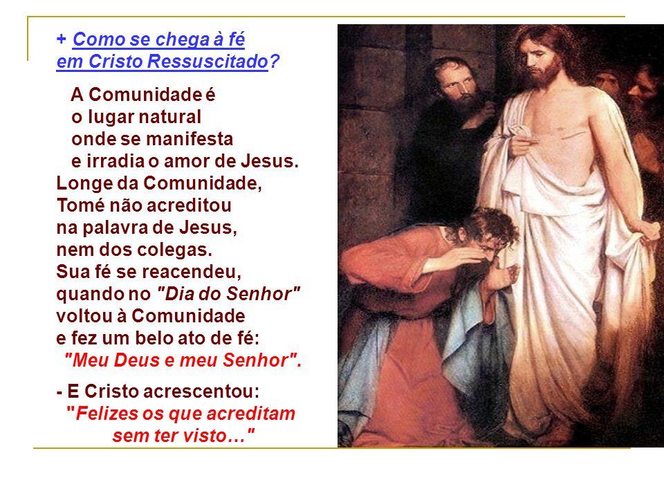 + Como se chega à fé em Cristo Ressuscitado