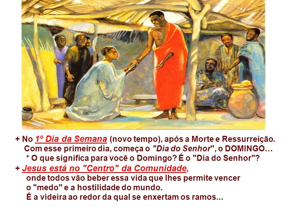+ No 1º Dia da Semana (novo tempo), após a Morte e Ressurreição.