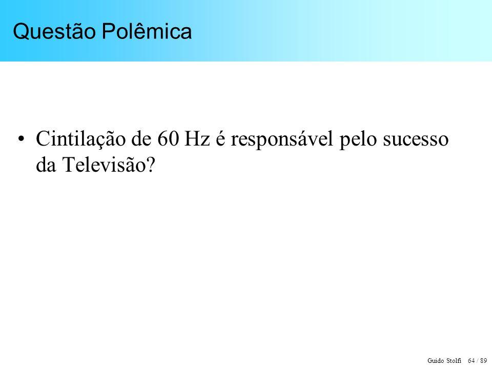 Questão Polêmica Cintilação de 60 Hz é responsável pelo sucesso da Televisão