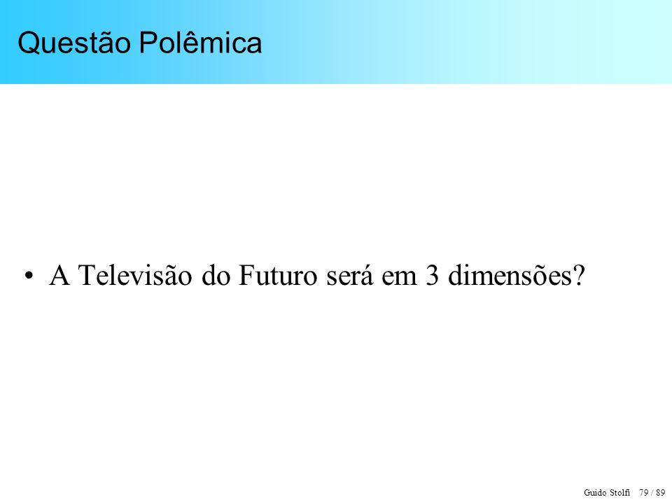 Questão Polêmica A Televisão do Futuro será em 3 dimensões