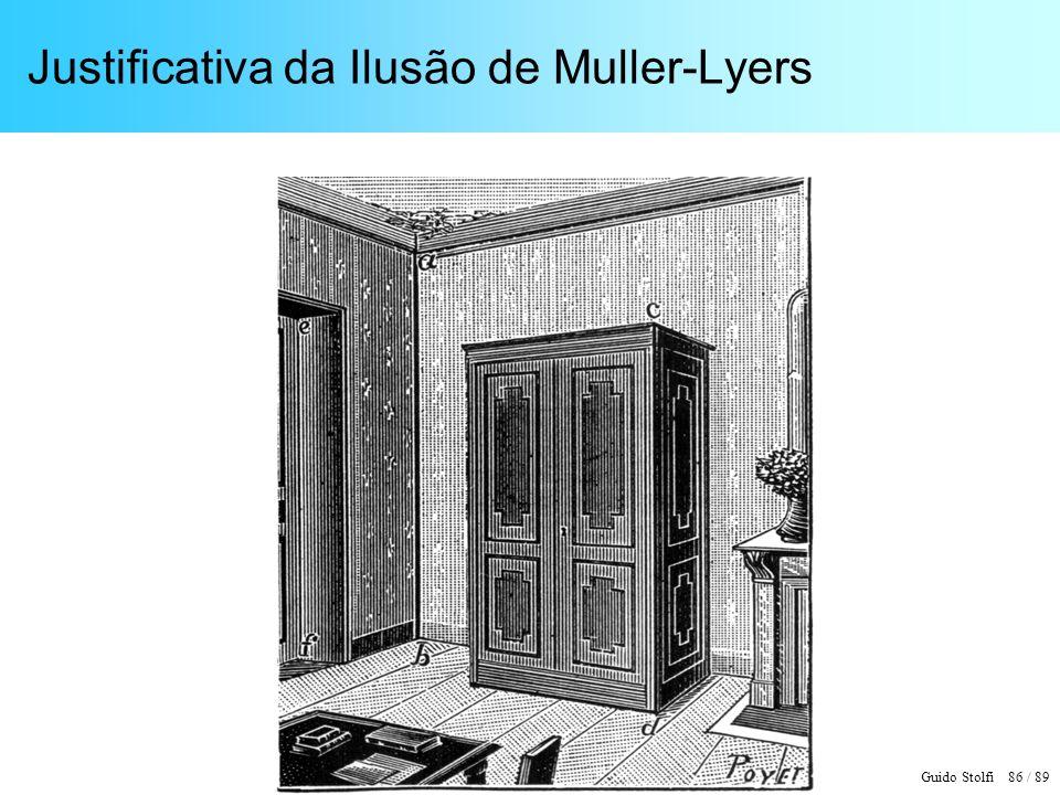 Justificativa da Ilusão de Muller-Lyers
