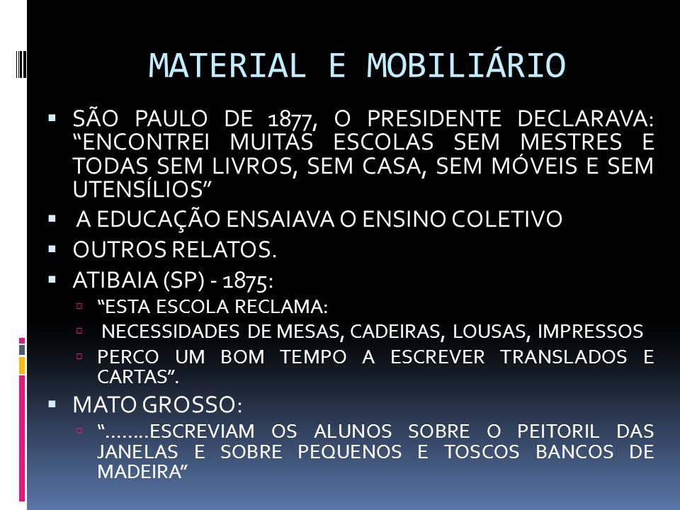 MATERIAL E MOBILIÁRIO