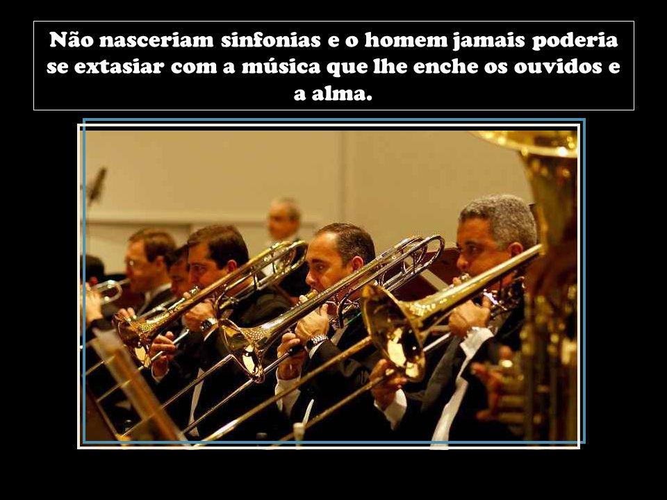 Não nasceriam sinfonias e o homem jamais poderia se extasiar com a música que lhe enche os ouvidos e a alma.