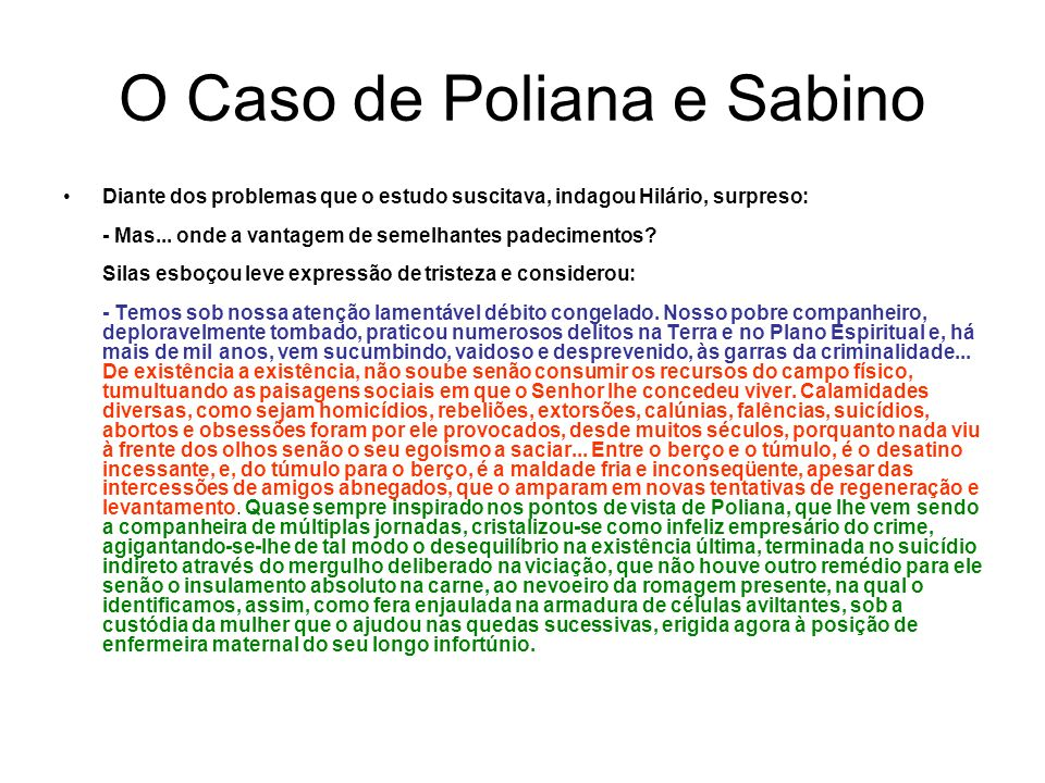 O Caso de Poliana e Sabino
