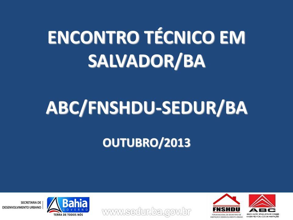 ENCONTRO TÉCNICO EM SALVADOR/BA