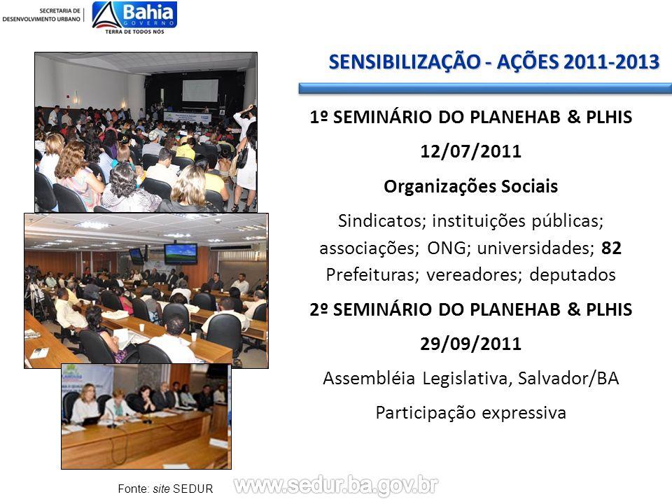 1º SEMINÁRIO DO PLANEHAB & PLHIS 2º SEMINÁRIO DO PLANEHAB & PLHIS