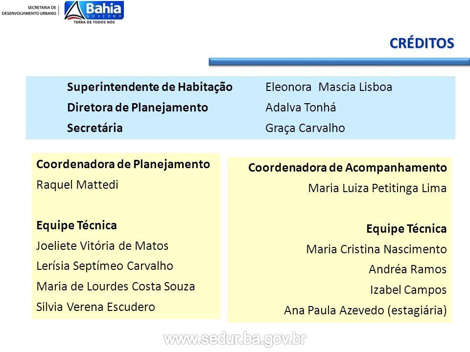 CRÉDITOS Superintendente de Habitação Eleonora Mascia Lisboa