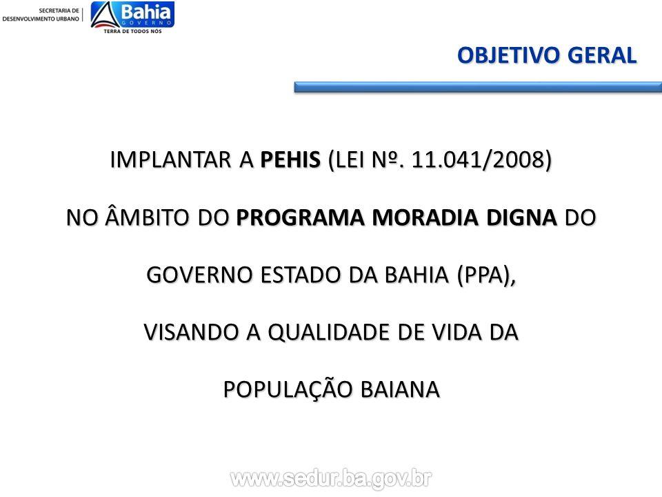 IMPLANTAR A PEHIS (LEI Nº. 11.041/2008)
