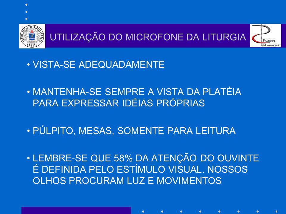 UTILIZAÇÃO DO MICROFONE DA LITURGIA