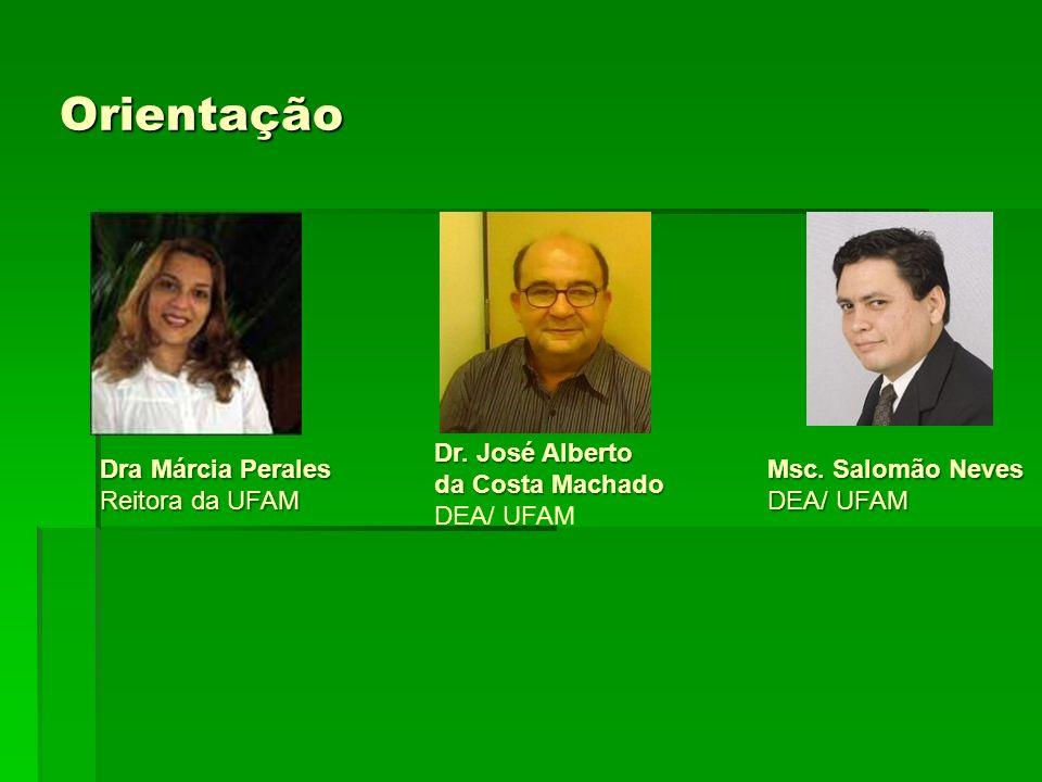 Orientação Dr. José Alberto da Costa Machado DEA/ UFAM