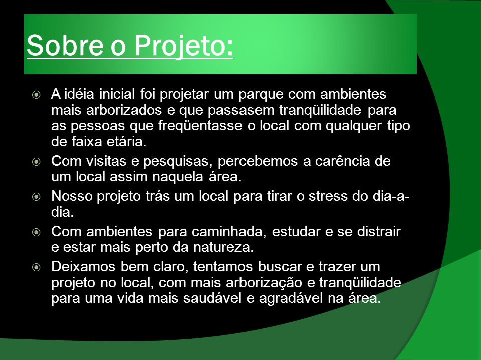 Sobre o Projeto: