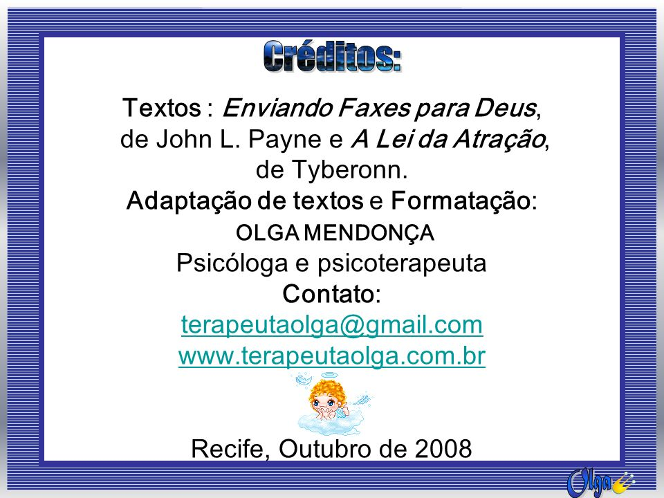Textos : Enviando Faxes para Deus,