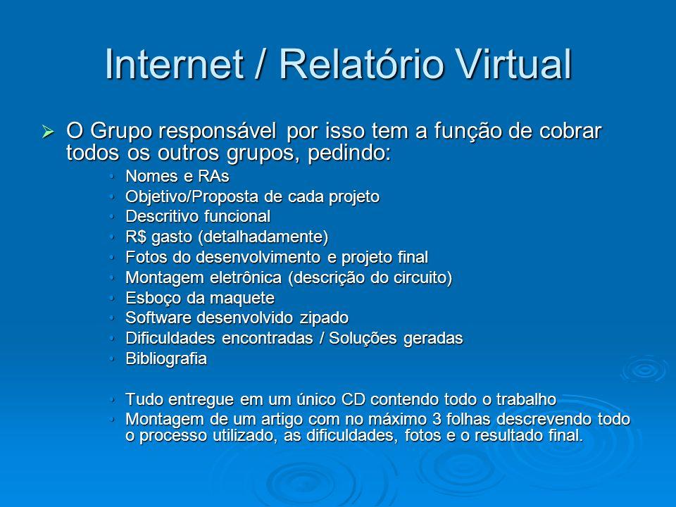 Internet / Relatório Virtual