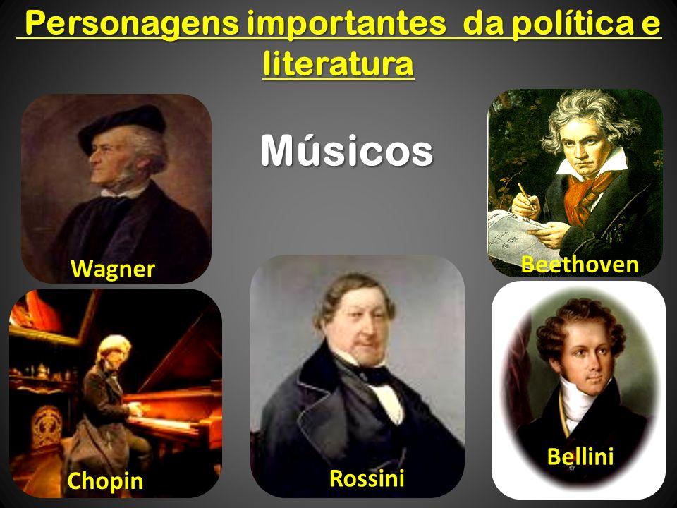 Personagens importantes da política e literatura