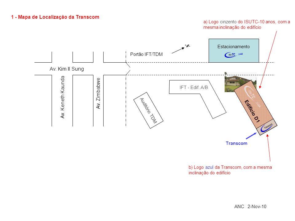 1 - Mapa de Localização da Transcom