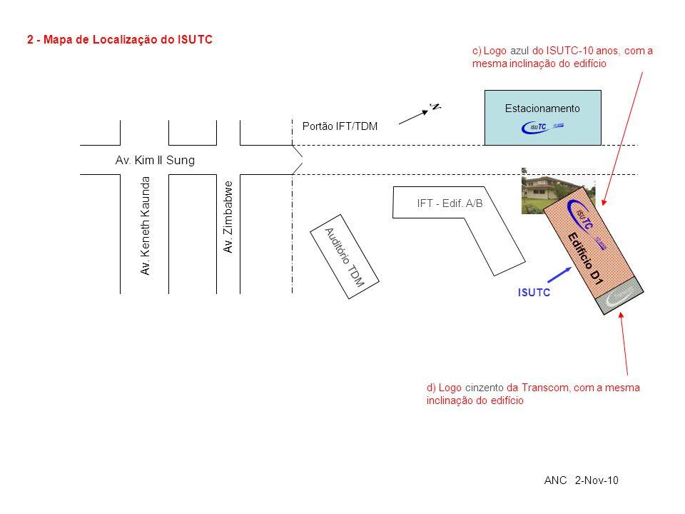 2 - Mapa de Localização do ISUTC