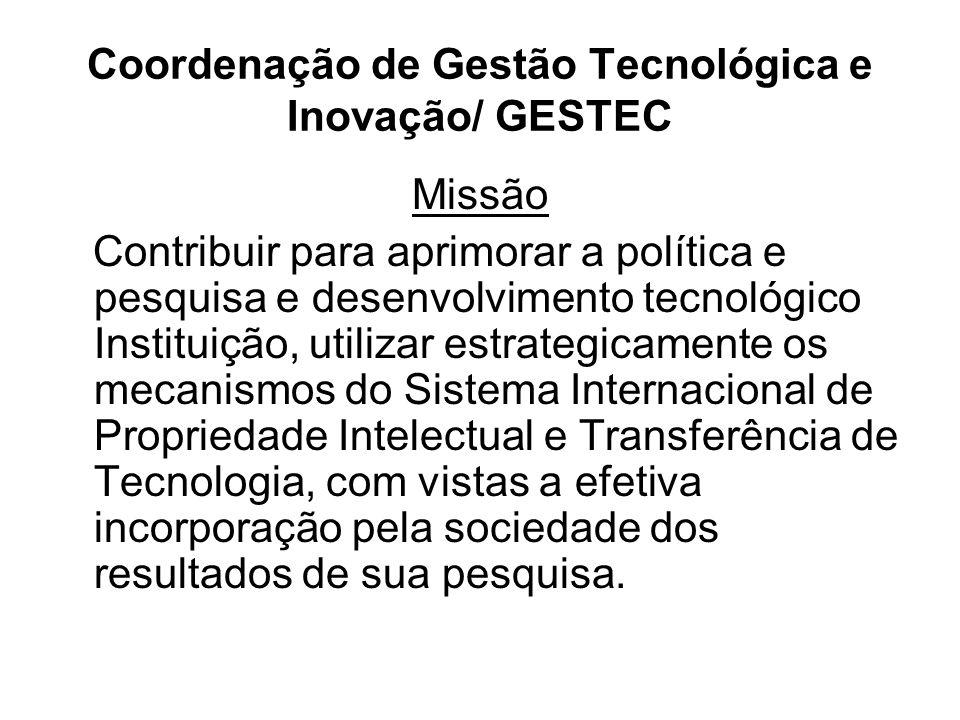 Coordenação de Gestão Tecnológica e Inovação/ GESTEC